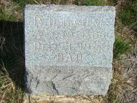 BAUM, ROBERT D - Callahan County, Texas | ROBERT D BAUM - Texas Gravestone Photos