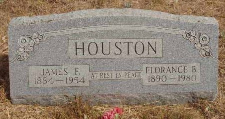 HOUSTON, FLORENCE B. - Callahan County, Texas | FLORENCE B. HOUSTON - Texas Gravestone Photos