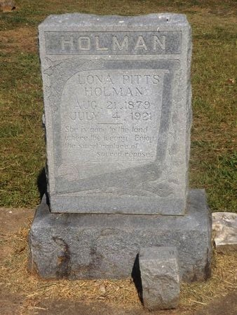 HOLMAN, LONA - Camp County, Texas | LONA HOLMAN - Texas Gravestone Photos