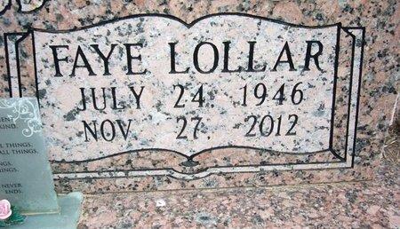 LOLLAR ALLEN, FAYE (CLOSE UP) - Cass County, Texas | FAYE (CLOSE UP) LOLLAR ALLEN - Texas Gravestone Photos