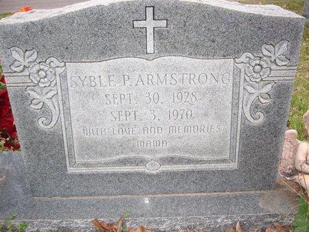 DAVLIN ARMSTRONG, SYBLE P - Cass County, Texas   SYBLE P DAVLIN ARMSTRONG - Texas Gravestone Photos