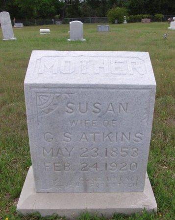 CAIRKER ATKINS, SUSAN - Cass County, Texas | SUSAN CAIRKER ATKINS - Texas Gravestone Photos
