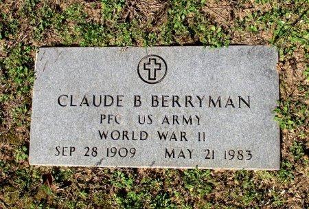BERRYMAN (VETERAN WWII), CLAUDE B.  - Cass County, Texas | CLAUDE B.  BERRYMAN (VETERAN WWII) - Texas Gravestone Photos