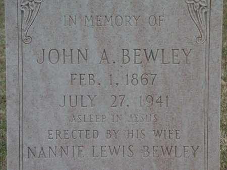 BEWLEY, JOHN A - Cass County, Texas | JOHN A BEWLEY - Texas Gravestone Photos