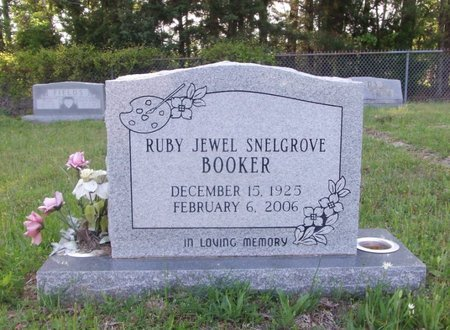 SNELGROVE BOOKER, RUBY JEWEL - Cass County, Texas | RUBY JEWEL SNELGROVE BOOKER - Texas Gravestone Photos