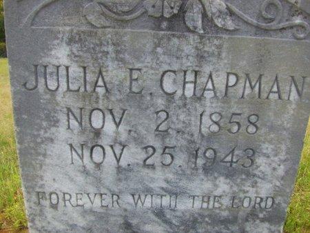 CHAPMAN, JULIA E - Cass County, Texas | JULIA E CHAPMAN - Texas Gravestone Photos