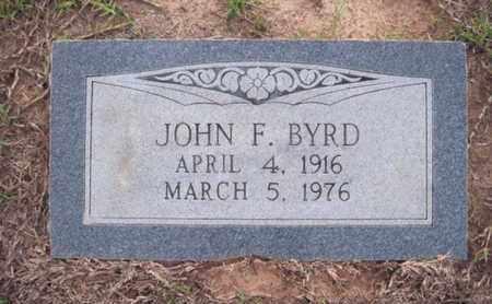 BYRD, JOHN F - Cass County, Texas   JOHN F BYRD - Texas Gravestone Photos
