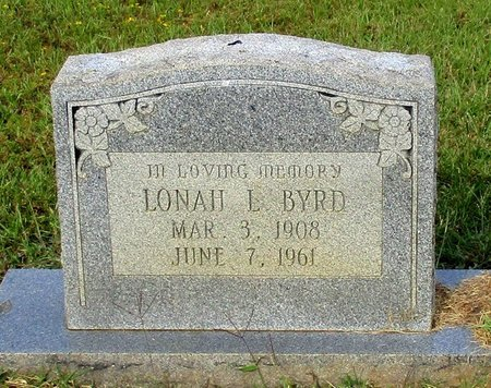 BYRD, LONAH L - Cass County, Texas   LONAH L BYRD - Texas Gravestone Photos