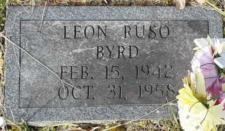 BYRD, LEON RUSO - Cass County, Texas | LEON RUSO BYRD - Texas Gravestone Photos