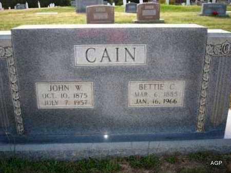 CAIN, JOHN W - Cass County, Texas | JOHN W CAIN - Texas Gravestone Photos