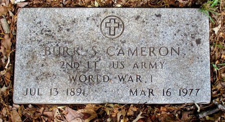 CAMERON (VETERAN WWI), BURR S. - Cass County, Texas | BURR S. CAMERON (VETERAN WWI) - Texas Gravestone Photos