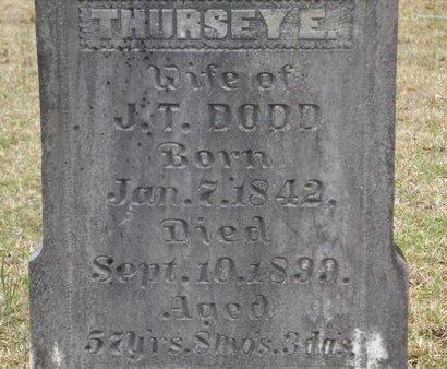 DODD, THURSEY E - Cass County, Texas | THURSEY E DODD - Texas Gravestone Photos