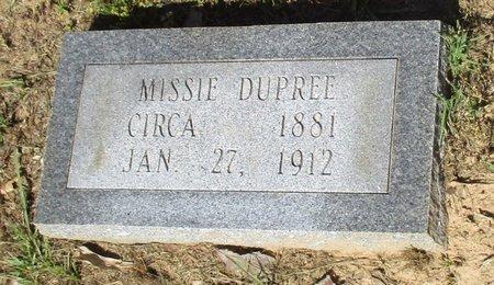 DUPREE, MISSIE - Cass County, Texas | MISSIE DUPREE - Texas Gravestone Photos