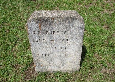 DUPREE, S.E. - Cass County, Texas | S.E. DUPREE - Texas Gravestone Photos