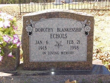 ECHOLS, DOROTHY - Cass County, Texas | DOROTHY ECHOLS - Texas Gravestone Photos