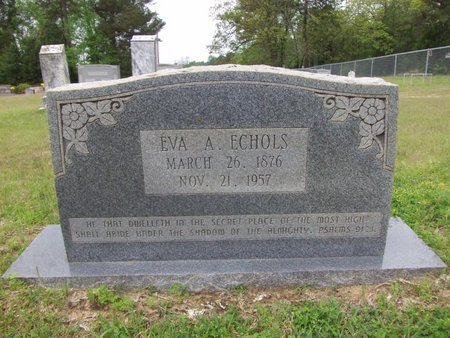 THOMAS ECHOLS, EVA A - Cass County, Texas | EVA A THOMAS ECHOLS - Texas Gravestone Photos