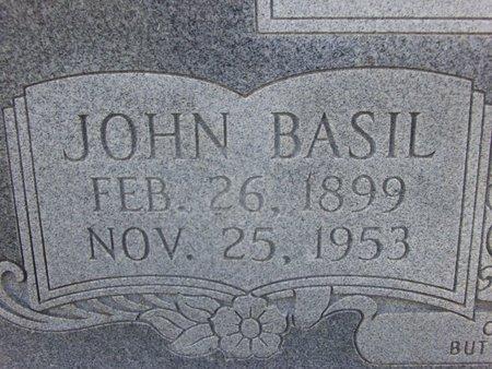ECHOLS, JOHN BASIL (CLOSE UP) - Cass County, Texas | JOHN BASIL (CLOSE UP) ECHOLS - Texas Gravestone Photos