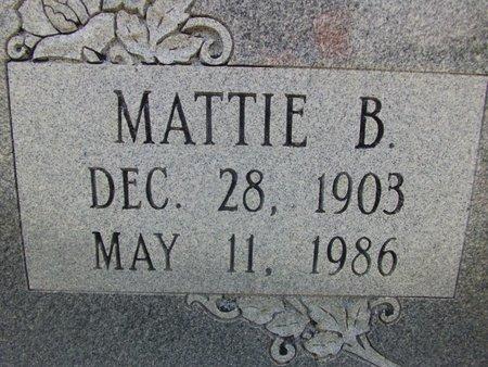 ECHOLS, MATTIE B (CLOSE UP) - Cass County, Texas | MATTIE B (CLOSE UP) ECHOLS - Texas Gravestone Photos