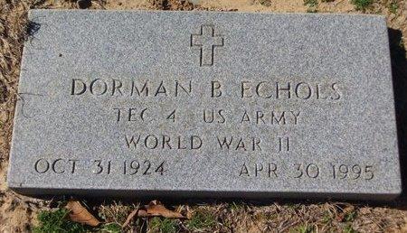 ECHOLS (VETERAN WWII), DORMAN B - Cass County, Texas   DORMAN B ECHOLS (VETERAN WWII) - Texas Gravestone Photos