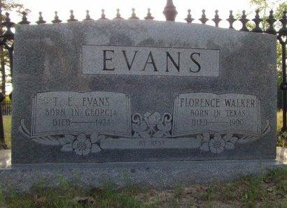 WALKER EVANS, FLORENCE - Cass County, Texas | FLORENCE WALKER EVANS - Texas Gravestone Photos