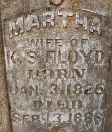 FLOYD, MARTHA (CLOSEUP) - Cass County, Texas | MARTHA (CLOSEUP) FLOYD - Texas Gravestone Photos