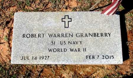 GRANBERRY (VETERAN WWII), ROBERT WARREN - Cass County, Texas | ROBERT WARREN GRANBERRY (VETERAN WWII) - Texas Gravestone Photos