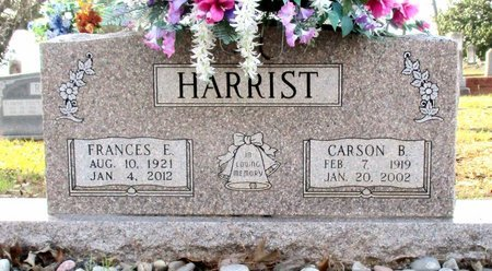 HARRIST, FRANCES E. - Cass County, Texas | FRANCES E. HARRIST - Texas Gravestone Photos
