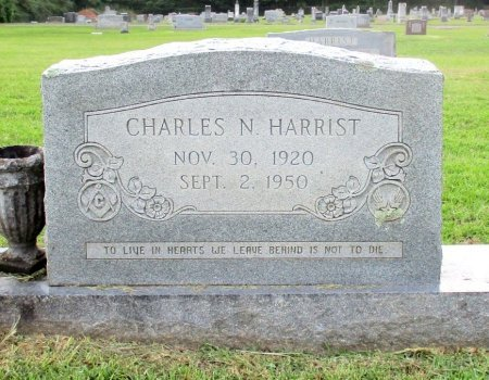 HARRIST, CHARLES N. - Cass County, Texas | CHARLES N. HARRIST - Texas Gravestone Photos