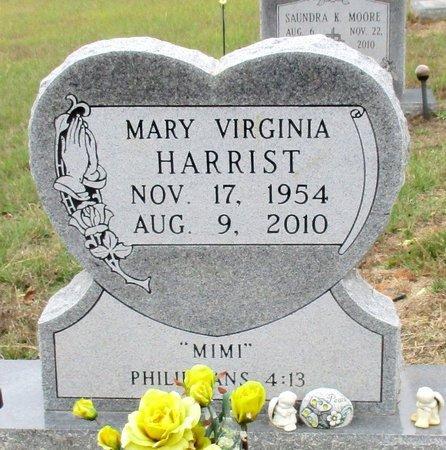 HARRIST, MARY VIRGINIA - Cass County, Texas   MARY VIRGINIA HARRIST - Texas Gravestone Photos