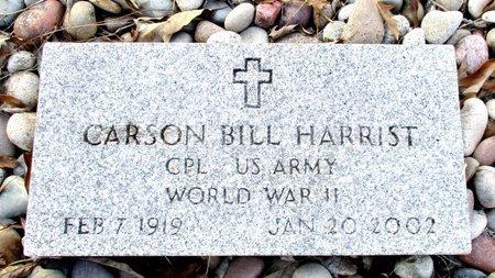 HARRIST (VETERAN WWII), CARSON BILL - Cass County, Texas | CARSON BILL HARRIST (VETERAN WWII) - Texas Gravestone Photos