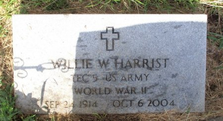 HARRIST, WILLIE W. - Cass County, Texas | WILLIE W. HARRIST - Texas Gravestone Photos