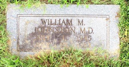 JOHNSTON, M.D., WILLIAM M. - Cass County, Texas   WILLIAM M. JOHNSTON, M.D. - Texas Gravestone Photos