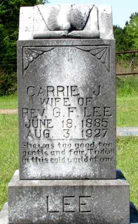 LEE, CARRIE J.  - Cass County, Texas | CARRIE J.  LEE - Texas Gravestone Photos