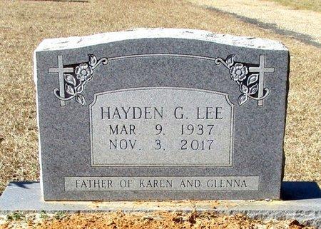 LEE, HAYDEN G. - Cass County, Texas | HAYDEN G. LEE - Texas Gravestone Photos