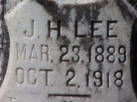 LEE, J H (CLOSE UP) - Cass County, Texas | J H (CLOSE UP) LEE - Texas Gravestone Photos