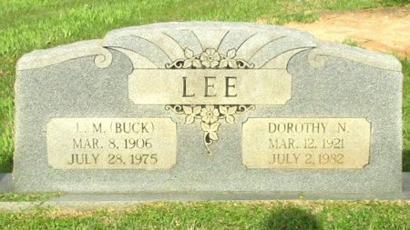 "LEE, L. M. ""BUCK""  - Cass County, Texas 