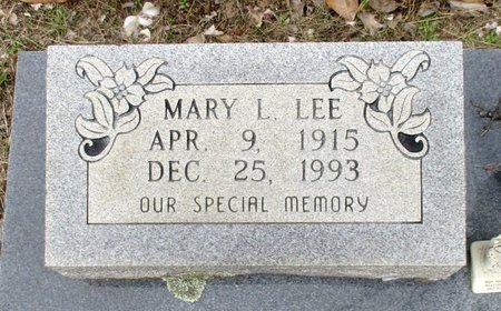LEE, MARY L. - Cass County, Texas | MARY L. LEE - Texas Gravestone Photos