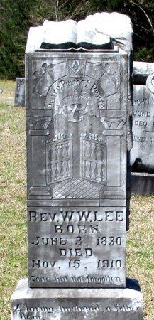 LEE, W. W., REV - Cass County, Texas   W. W., REV LEE - Texas Gravestone Photos