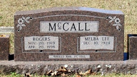 MCCALL, ROGERS  - Cass County, Texas | ROGERS  MCCALL - Texas Gravestone Photos