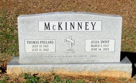 SWINT MCKINNEY, JULIA  - Cass County, Texas | JULIA  SWINT MCKINNEY - Texas Gravestone Photos