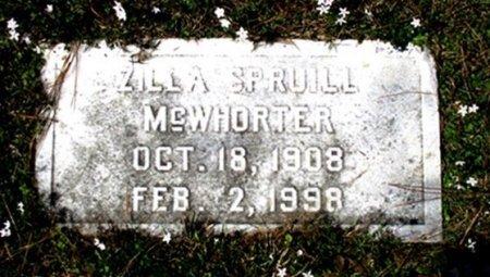 SPRUILL MCWHORTER, ZILLA E  - Cass County, Texas | ZILLA E  SPRUILL MCWHORTER - Texas Gravestone Photos