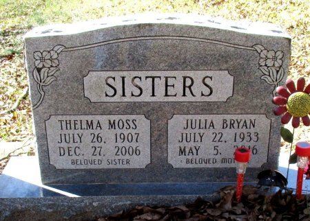 MURPHY BRYAN, JULIA  - Cass County, Texas   JULIA  MURPHY BRYAN - Texas Gravestone Photos