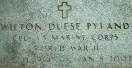 PYLAND (VETERAN WWII), WILTON DUESE (CLOSEUP)   - Cass County, Texas | WILTON DUESE (CLOSEUP)   PYLAND (VETERAN WWII) - Texas Gravestone Photos