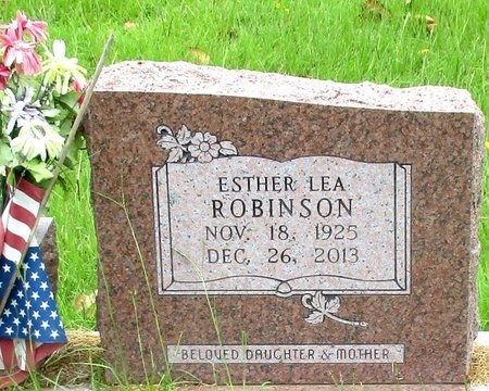 ROBINSON, ESTHER LEA - Cass County, Texas | ESTHER LEA ROBINSON - Texas Gravestone Photos