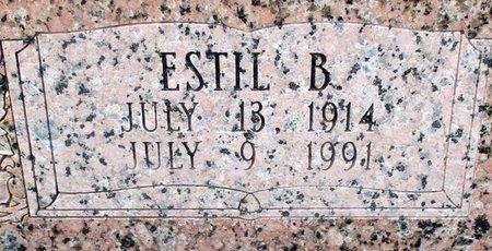 ROBINSON, ESTIL B (CLOSE UP) - Cass County, Texas | ESTIL B (CLOSE UP) ROBINSON - Texas Gravestone Photos