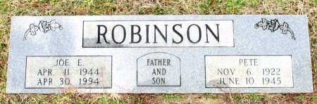 ROBINSON, JOE E. - Cass County, Texas | JOE E. ROBINSON - Texas Gravestone Photos
