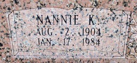 ROBINSON, NANNIE K. (CLOSE UP) - Cass County, Texas   NANNIE K. (CLOSE UP) ROBINSON - Texas Gravestone Photos