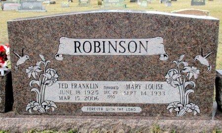 ROBINSON, TED FRANKLIN  - Cass County, Texas   TED FRANKLIN  ROBINSON - Texas Gravestone Photos