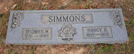 SIMMONS, NANCY D - Cass County, Texas   NANCY D SIMMONS - Texas Gravestone Photos