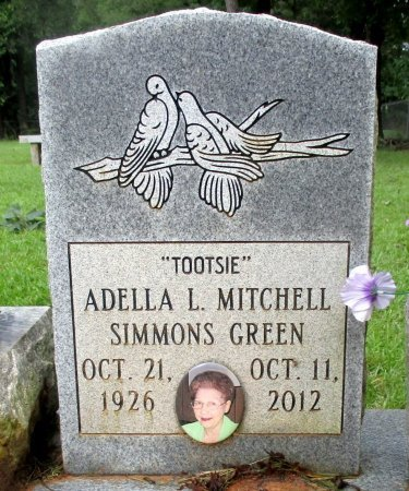 SIMMONS, ADELLA L. (CLOSE UP) - Cass County, Texas | ADELLA L. (CLOSE UP) SIMMONS - Texas Gravestone Photos